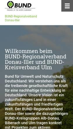 Vorschau der mobilen Webseite www.bund-ulm.de, BUND (Umweltschutz)