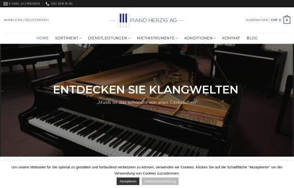 Vorschau von www.pianoherzig.ch, Piano Herzig AG