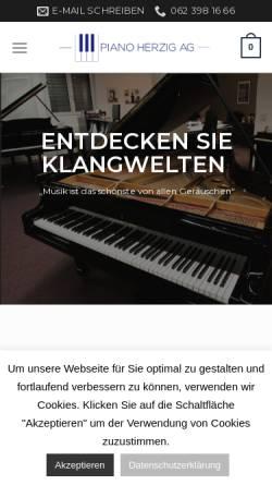 Vorschau der mobilen Webseite www.pianoherzig.ch, Piano Herzig AG