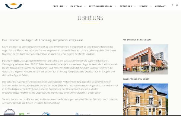 Vorschau von www.augenzentrum-siegen.de, Belenus Augenzentrum