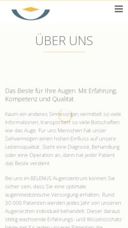 Vorschau der mobilen Webseite www.augenzentrum-siegen.de, Belenus Augenzentrum
