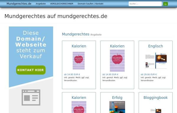 Vorschau von www.mundgerechtes.de, Mundgerechtes