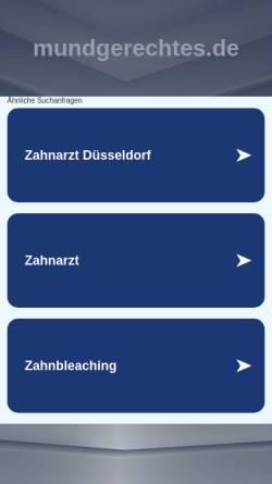 Vorschau der mobilen Webseite www.mundgerechtes.de, Mundgerechtes