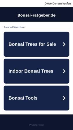 Vorschau der mobilen Webseite www.bonsai-ratgeber.de, Bonsai Ratgeber