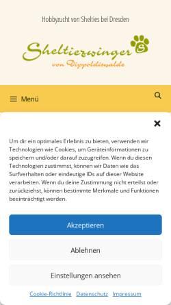 Vorschau der mobilen Webseite www.shelties-von-dippoldiswalde.de, Von Dippoldiswalde