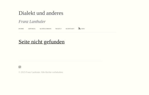 Vorschau von www.lanthaler.net, Zusammenfassung der Neuregelungen der deutschen Rechtschreibung