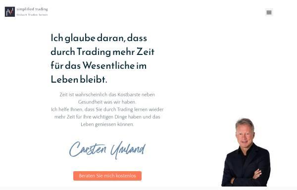 Vorschau von www.simplified-trading.com, Carsten Umland - Simplified Trading