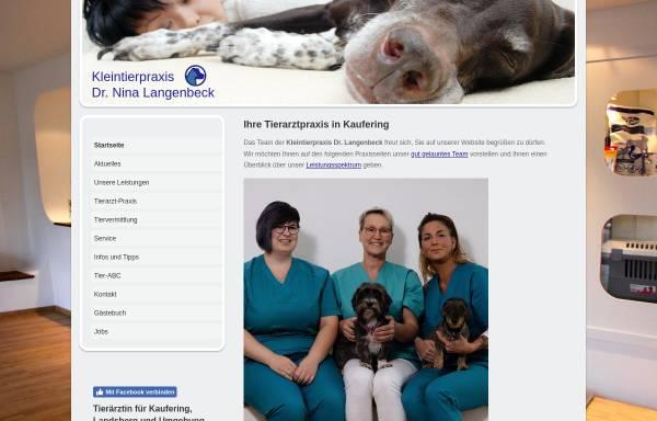 Vorschau von www.tierarztpraxis-kaufering.de, Dr. med. vet. Nina Langenbeck