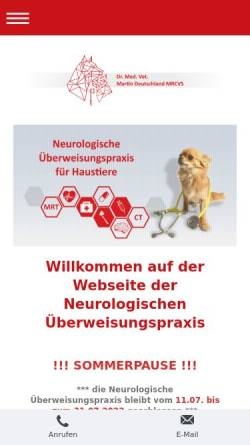 Vorschau der mobilen Webseite tierneurologie-berlin.de, Neurologische Überweisungspraxis
