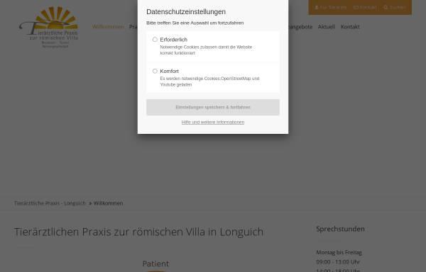 Vorschau von www.tierarztpraxis-longuich.de, Tierärztliche Praxis zur römischen Villa