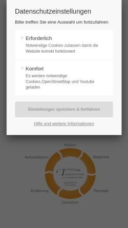 Vorschau der mobilen Webseite www.tierarztpraxis-longuich.de, Tierärztliche Praxis zur römischen Villa