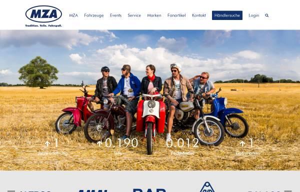 Vorschau von www.mza-portal.de, MZA Meyer-Zweiradtechnik-Ahnatal GmbH