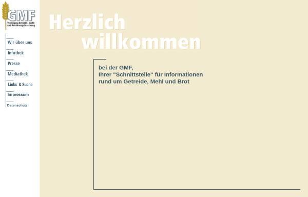 Vorschau von www.gmf-info.de, Vereinigung Getreide-, Markt- und Ernährungsforschung GmbH (GMF)