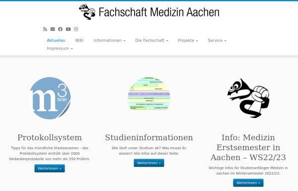Vorschau von www.fsmed-aachen.de, Fachschaft Medizin Universität Aachen