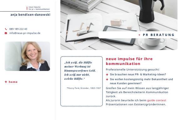 Vorschau von neue-pr-impulse.de, Neue Impulse für PR und Kommunikation - Anja Bendixen-Danowski
