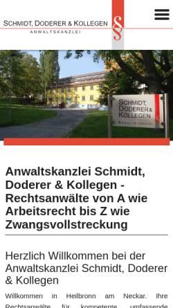 Vorschau der mobilen Webseite www.kanzlei-ksd.de, Kanzlei Dr. Krüger, Schmidt & Doderer