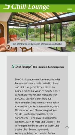 Vorschau der mobilen Webseite www.chill-lounge.de, Electro Chill out und Loungemusik Band