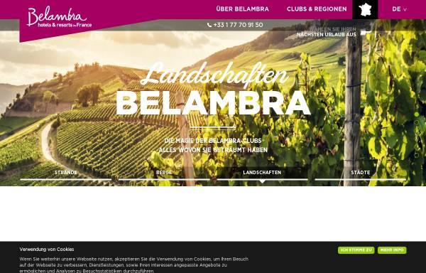 Vorschau von www.belambra.de, Belambra Clubs