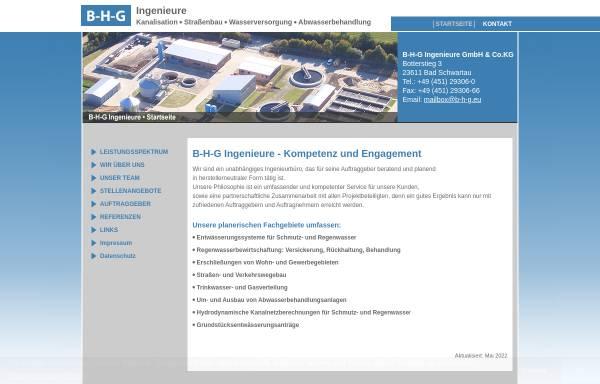 Vorschau von www.b-h-g.eu, Ingenieurbüro Buß-Hempel-Günter GmbH