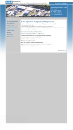 Vorschau der mobilen Webseite www.b-h-g.eu, Ingenieurbüro Buß-Hempel-Günter GmbH