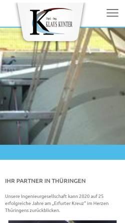 Vorschau der mobilen Webseite www.igfw.de, Ingenieurgesellschaft für Wasserwirtschaft mbH