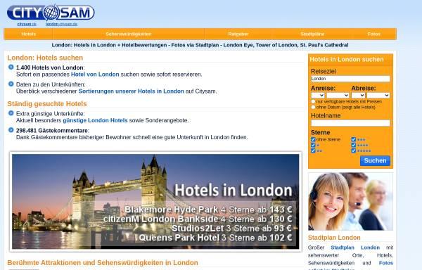 Vorschau von www.london.citysam.de, Citysam London