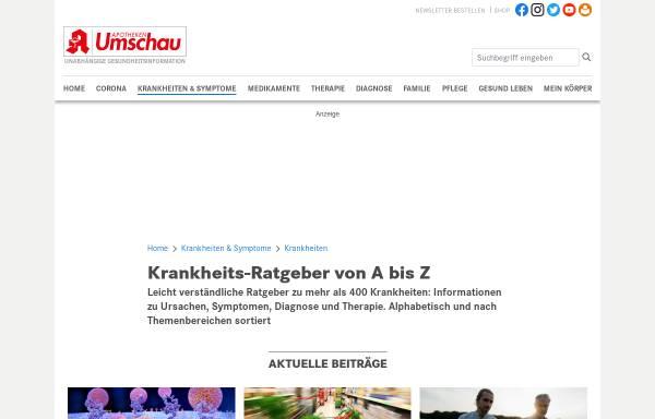 Vorschau von www.apotheken-umschau.de, Apotheken Umschau: Krankheiten im Überblick
