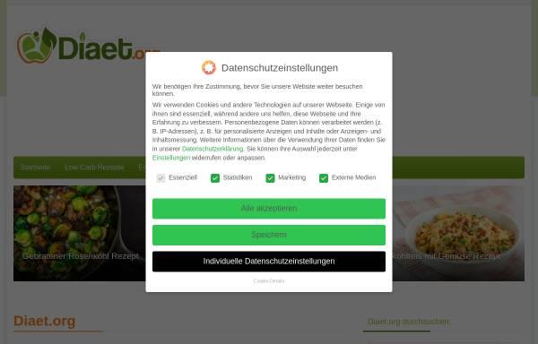 Vorschau von www.diaet.org, Diaet.org - gesund ernähren – gesund leben – gesund abnehmen