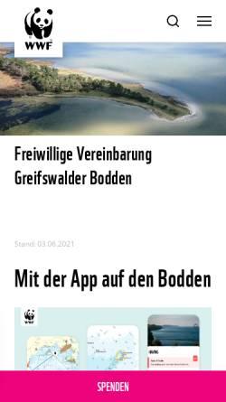 Vorschau der mobilen Webseite www.wassersport-im-bodden.de, Wassersport im Bodden