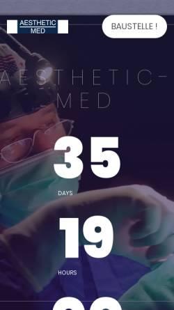 Vorschau der mobilen Webseite www.aesthetic-med.de, Aesthetic Med Service