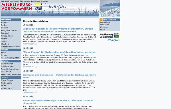 Vorschau von www.mv-maritim.de, Mecklenburg-Vorpommern maritim