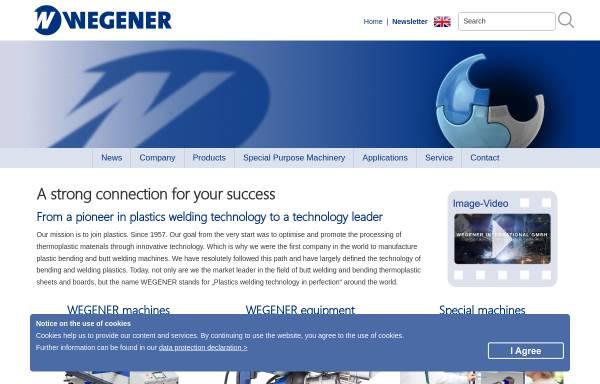 Vorschau von www.wegenerwelding.de, Wegener GmbH