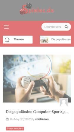 Vorschau der mobilen Webseite www.spielez.de, Spielez.de