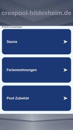 Vorschau der mobilen Webseite www.creapool-hildesheim.de, Schröder, Dirk