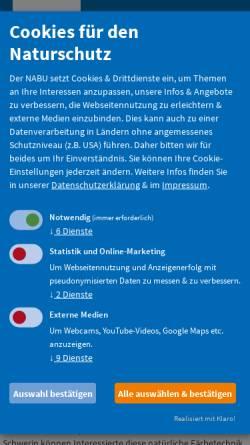 Vorschau der mobilen Webseite www.nabu-mv.de, Naturschutzbund Mecklenburg-Vorpommern e. V.