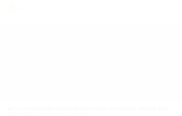 Vorschau von www.ipo-bonn.de, Weiter- und Fortbildung in Psychoonkologie