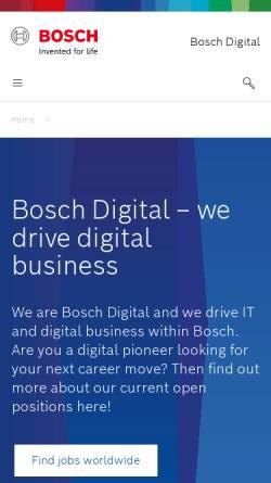 Vorschau der mobilen Webseite www.bosch-si.com, Bosch Software Innovations GmbH
