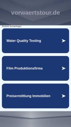 Vorschau der mobilen Webseite www.vorwaertstour.de, Vorwärts! tour & ruhr