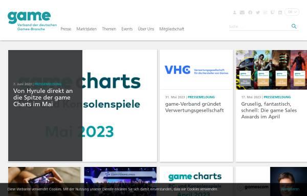 Vorschau von www.game.de, G.A.M.E. Bundesverband der Entwickler von Computerspielen e.V.