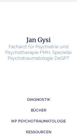 Vorschau der mobilen Webseite www.jangysi.ch, Gysi, Dr. med. Jan