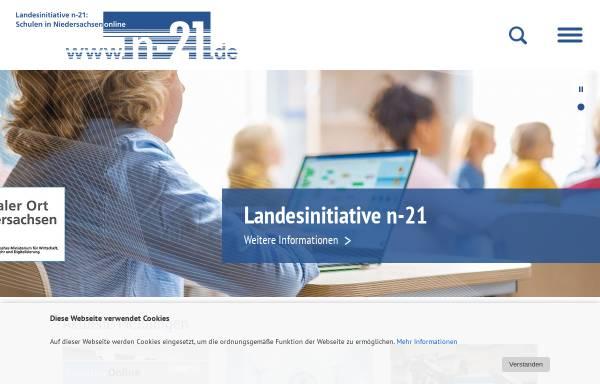 Vorschau von www.n-21.de, N21 - Schulen in Niedersachsen online e.V.
