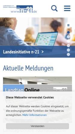 Vorschau der mobilen Webseite www.n-21.de, N21 - Schulen in Niedersachsen online e.V.