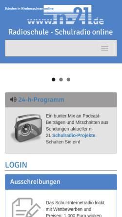Vorschau der mobilen Webseite schul-internetradio.org, Radioschule, Schulradio online - Schulen in Niedersachsen online e.V.