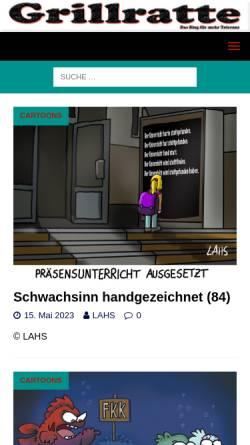 Vorschau der mobilen Webseite grillratte.de, Grillratte
