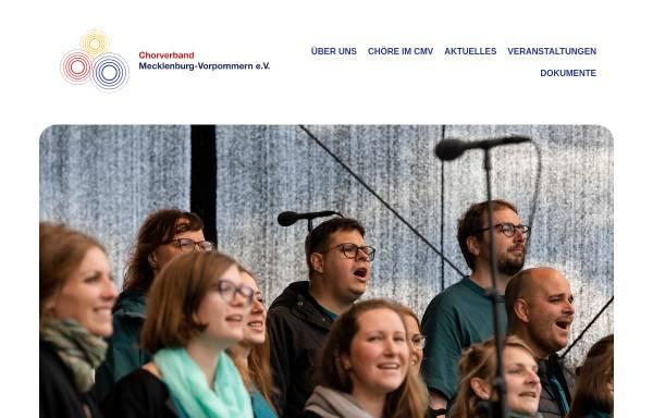 Vorschau von www.chorverband-mv.de, Chorverband Mecklenburg-Vorpommern