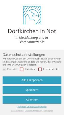 Vorschau der mobilen Webseite www.dorfkirchen-in-not.de, Dorfkirchen in Not in Mecklenburg und Vorpommern e. V.
