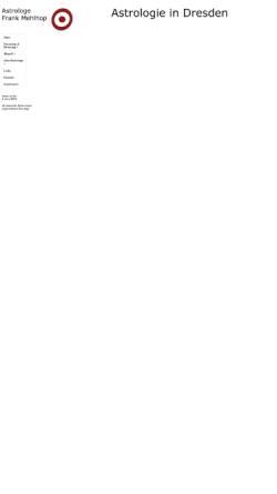 Vorschau der mobilen Webseite www.astrologie-dresden.de, Astrologie in Dresden