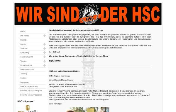 Vorschau von www.hsc-igel.de, HSC Igel