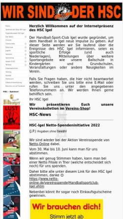 Vorschau der mobilen Webseite www.hsc-igel.de, HSC Igel