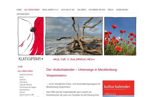 Vorschau von www.kulturkalender-mv.de, Kulturkalender Mecklenburg-Vorpommern